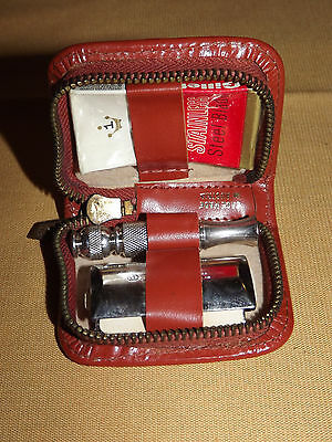 Vintage Gillete Safety Razor Travel Set  In Mini Case Unused