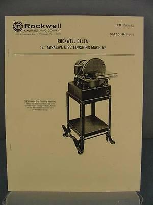 "Rockwell 12"" Abrasive Disc Finishing Sander Manual"