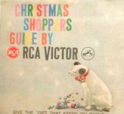RCA Victor Christmas Shoppers Guide Give the Gift that Keeps on Giving 1959 NEW