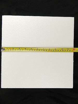 Square Styrofoam 12 x 12 x 4 Inches Pack of 4 Pieces Cake Dummy Craft Packing