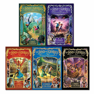 Land of Stories Collection By Chris Colfer 5 Books Set Beyond the Kingdoms NEW