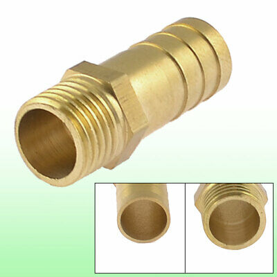 "Brass 12mm Hose Barb to 1/4"" PT Male Thread Pneumatic Coupling Connector"