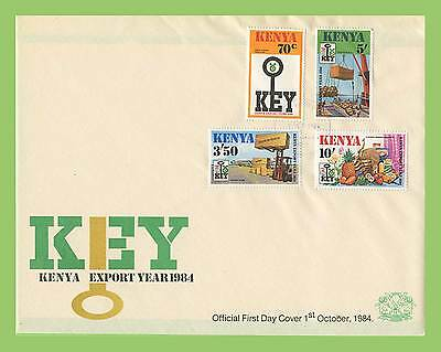 Kenya 1984 Keny Export Year set on First Day Cover