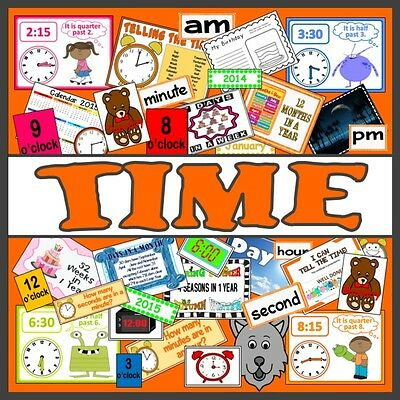 Cd Telling The Time Teaching Resources Eyfs Ks 1-2 Maths Numeracy Oclock Seasons