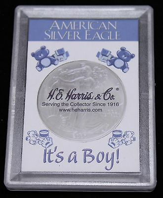 It's a Boy 1 Once American Silver Eagle Frosty Storage & Display Case