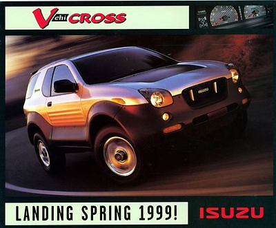 1999 Isuzu V Cross ORIGINAL Large Factory Postcard With Reply Postcard my1364