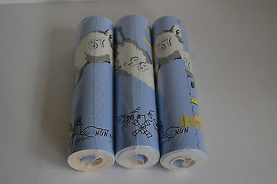 Nick & Nora Counting Sheep Blue Wallpaper Border 3 Rolls
