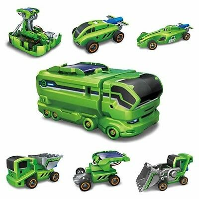Educational Toys Science 7-in-1 Solar Rechargeable Vehicle Station Transformer