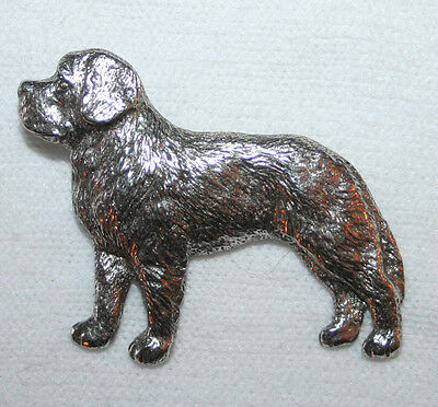 Saint Bernard Dog Fine PEWTER PIN Jewelry Art USA Made