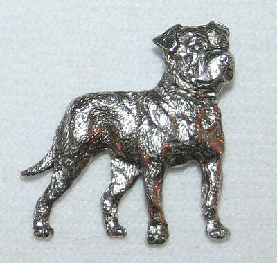 American Bulldog Dog Fine PEWTER PIN Jewelry Art USA Made