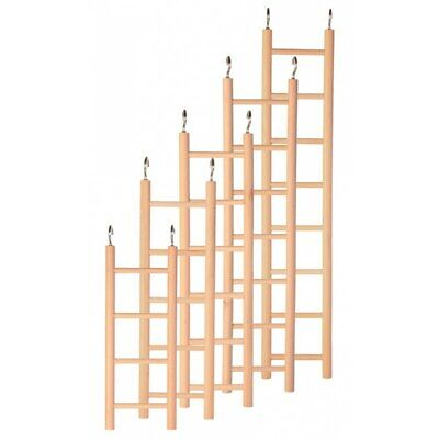 Trixie Natural Wood Ladder, Real Tree Branches - 2 Sizes Budgie -Small Birds
