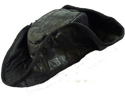 BLACK DISTRESSED #UNISEX TRICORN PIRATE HAT FANCY DRESS 2 COLOURS ONE SIZE