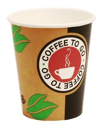 750 Coffee to Go Becher für 200ml (8oz) Pappbecher Kaffeebecher
