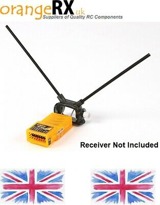 orangeRX Receiver Antenna Mount Dual 45 degree with Direct or Clip Mount - FRSKY