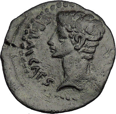 Augustus Rare Julia Traducta in Spain Authentic Ancient Roman Coin i43954