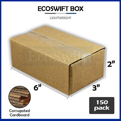150 6x3x2 Cardboard Packing Mailing Moving Shipping Boxes Corrugated Box Cartons
