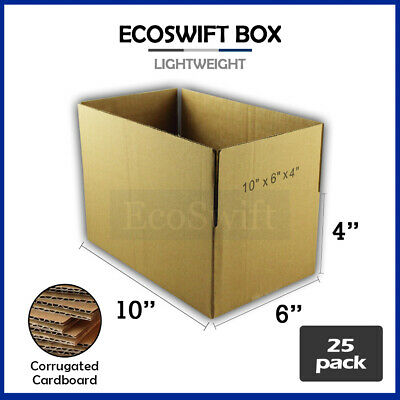 25 10x6x4 Cardboard Packing Mailing Moving Shipping Boxes Corrugated Box Cartons