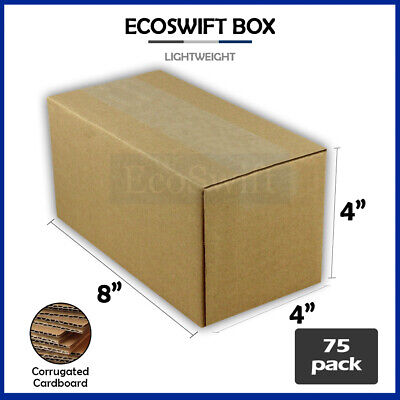75 8x4x4 Cardboard Packing Mailing Moving Shipping Boxes Corrugated Box Cartons
