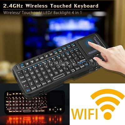 2.4G Mini Wireless Keyboard Mouse Touchpad with LED Backlight for PC Smart TV