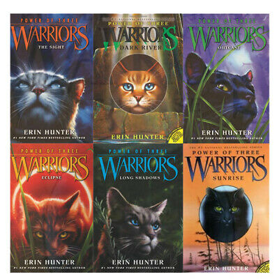Power of Three Warrior Collection Erin Hunter 6 Books Box Set The Sight,Outcast
