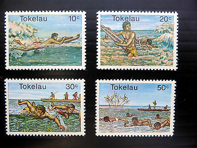 TOKELAU ISLANDS 1980 Watersports (4) Unmounted Mint NEW LOWER PRICE FP773