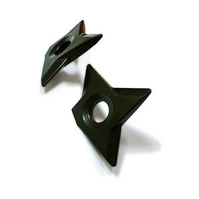 Molla Space Black Ninja Shuriken Throwing Star Magnet Set Fridge Desk Organizer