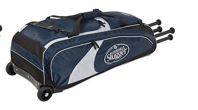 Louisville Slugger EBS514-RGNV Series 5 Rig Wheeled Player Bag NEW Navy Baseball