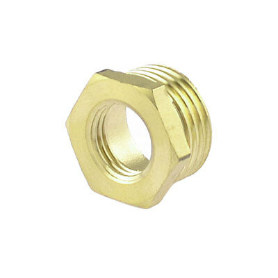 """Brass 1/2"""" NPT Male to 1/4"""" NPT Female Thread Hex Bushing Piping Quick Coupler"""
