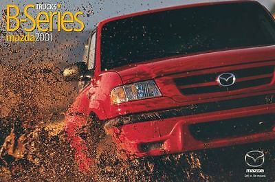 2001 Mazda B4000 B3000 B2300 Pickup Truck ORIGINAL Large Factory Postcard my1580