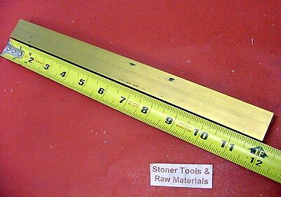 """1"""" x 1"""" C360 BRASS SQUARE BAR 12"""" long Solid 1.00"""" Flat Mill Stock H02"""