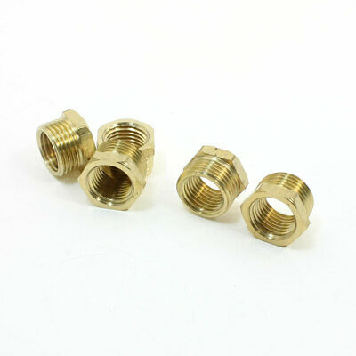 "5pcs 3/8"" PT Male to 1/4"" PT Female Thread Hex Nipple Bushing Quick Coupler"