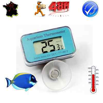 Thermometre Digital Immergeable A Ventouse Pour Aquarium Etanche / Poisson