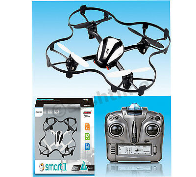 SMART II UFO LED INTRUDER S660 QUADCOPTER HELICOPTER 2.4GHz 6.0 CHANNEL REMOTE