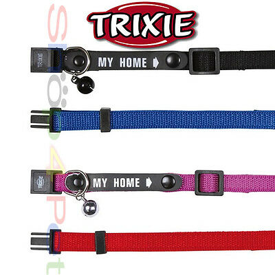 TRIXIE Cat Collar Soft Weave Nylon Facility to Write your Contact Details Inside