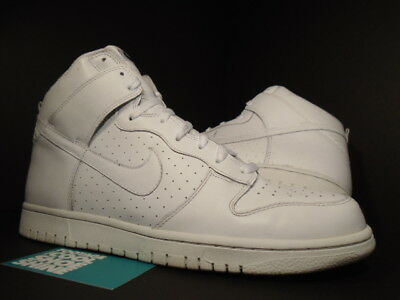 408f062aff4 2007 Nike Dunk High PERFORATED PERF WHITE WHITEOUT 309432-112 Sz 11.5