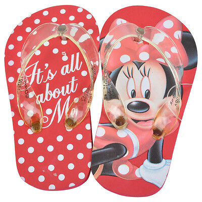 Disney Minnie Mouse All About Me Youth Girls Sandals Flip Flops Polka Dot