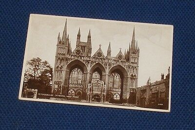 Peterborough Cathedral, West Front - Old Picture Postcard