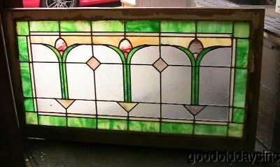 LG 1920's Chicago Bungalow Stained Glass Transom Window
