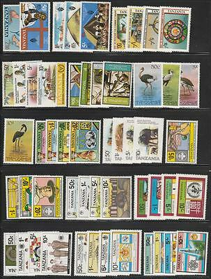 Tanzania mint collection 94 diff stamps cv $120