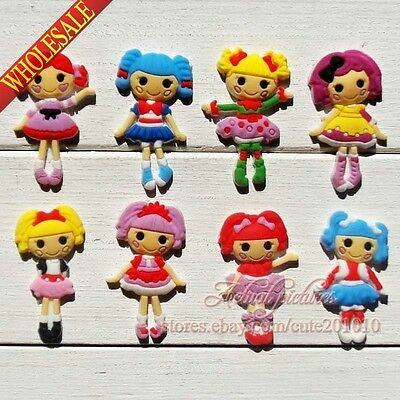 New 8-40pcs Lalaloopsy PVC Shoe Charms Shoe Accessories Kids Party Kids Gifts