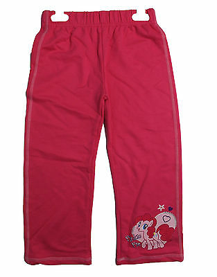 Genuine My Little Pony 3 Kids Childrens Girls Joggers Bottoms Pink