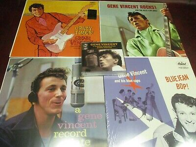 Gene Vincent & Blue Caps Capitol Collection Out Of Print Sealed 5 Lps + 4 Cd Set