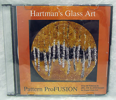Glass FUSING PATTERNS CD ProFUSION Paned Expression NEW