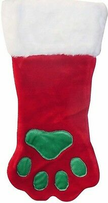 Plush Dog Paw Christmas Holiday Stocking - Available in either Large or Small