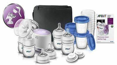 Philips AVENT 2-in-1 Comfort Breast Pump Double Electric and Manual BPA Free NEW