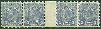 AUSTRALIA : 1932. Stanley Gibbons #128 Gutter Strip of 4. Very Fine, Mint OG H.