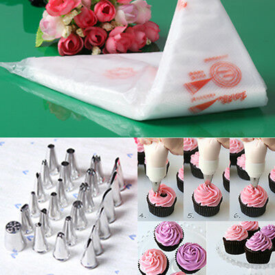 100PCS Disposable Piping bag Icing Nozzle Fondant Cake Decorating Pastry TR13