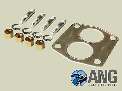 Triumph Tr4A, Tr5 & Tr6 Exhaust Downpipe To Manifold Stud, Nut & Gasket Kit
