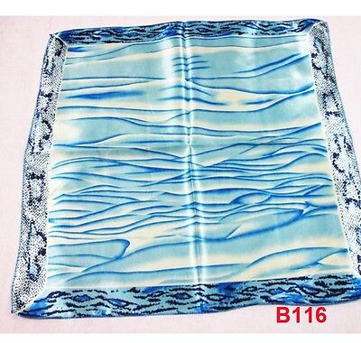 Lovely cute classic Blue wood grain scarf neck Kerchief Bandana BG B116