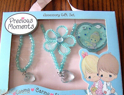 Precious Moments Acessory Gift Set-Includes a Mirror-Necklace-Bracelet-Hair Clip